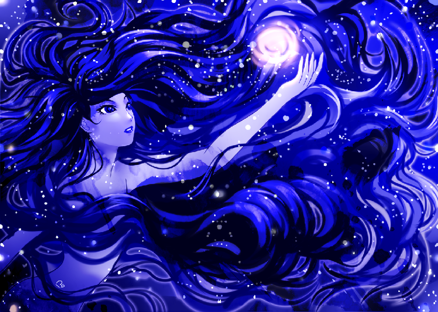 Blue Moon image via http://kagomesarrow77.deviantart.com/art/Blue-Magic-463954812