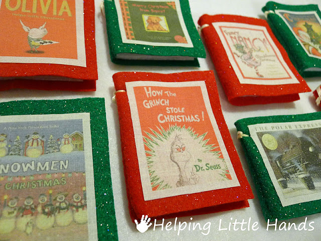 Pieces by Polly: Easy Mini-Book Christmas Ornament Tutorial