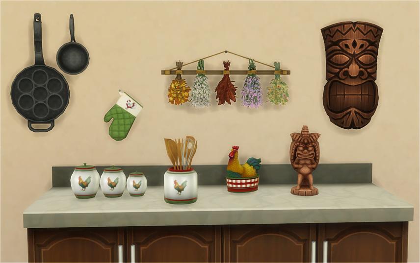 Contenido Personalizado para Sims 4: 8 decoraciones de cocina ...