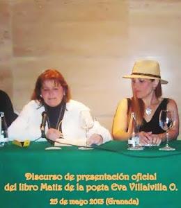 PRESENTACION DEL LIBRO DE LA POETA EVA VILLAVILLA : MATIZ
