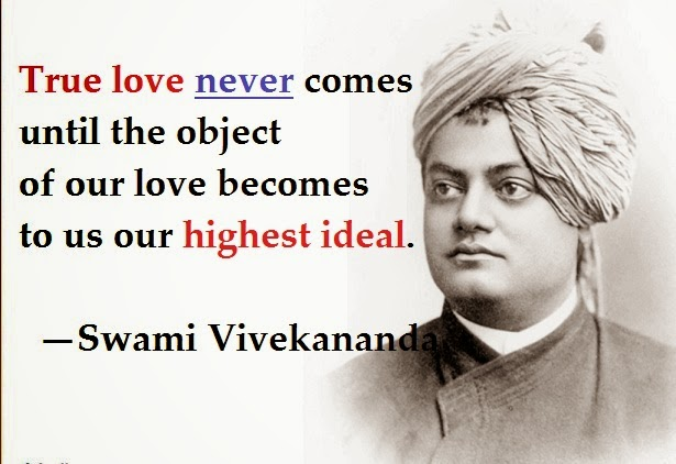 True love never comes until the object of our love becomes to us our highest ideal.