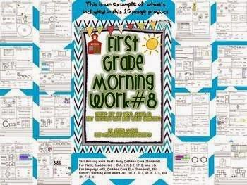 http://www.teacherspayteachers.com/Product/1st-Grade-Math-and-Literacy-Common-Core-Morning-Work-8th-Month-of-School-534008