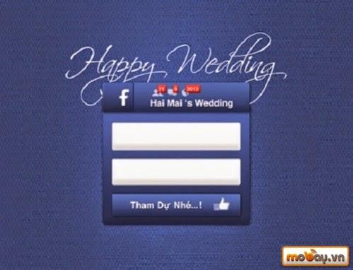Thiết kế thiệp cưới Facbook độc đáo