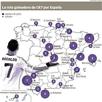 Cristiano Ronaldo, el 'conquistador' de España