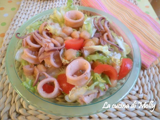 insalata di calamari e ceci