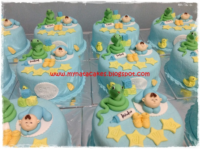 Mynata Cakes Baby One Month Birthday Cake For Dave