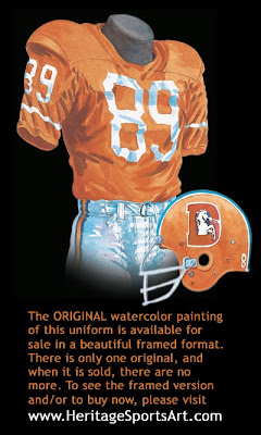 Denver Broncos 1960 uniform