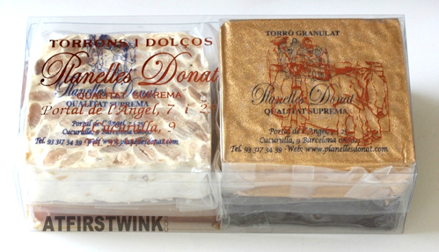 box of 4 large pieces of nougats from Planelles Donat