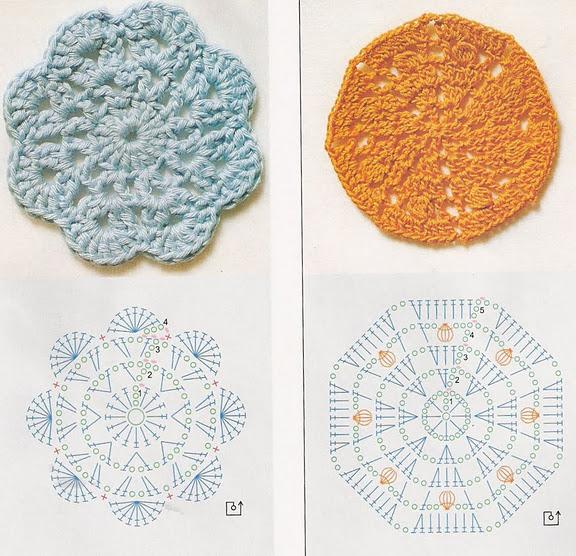 трикотажная пряжа коврик схема