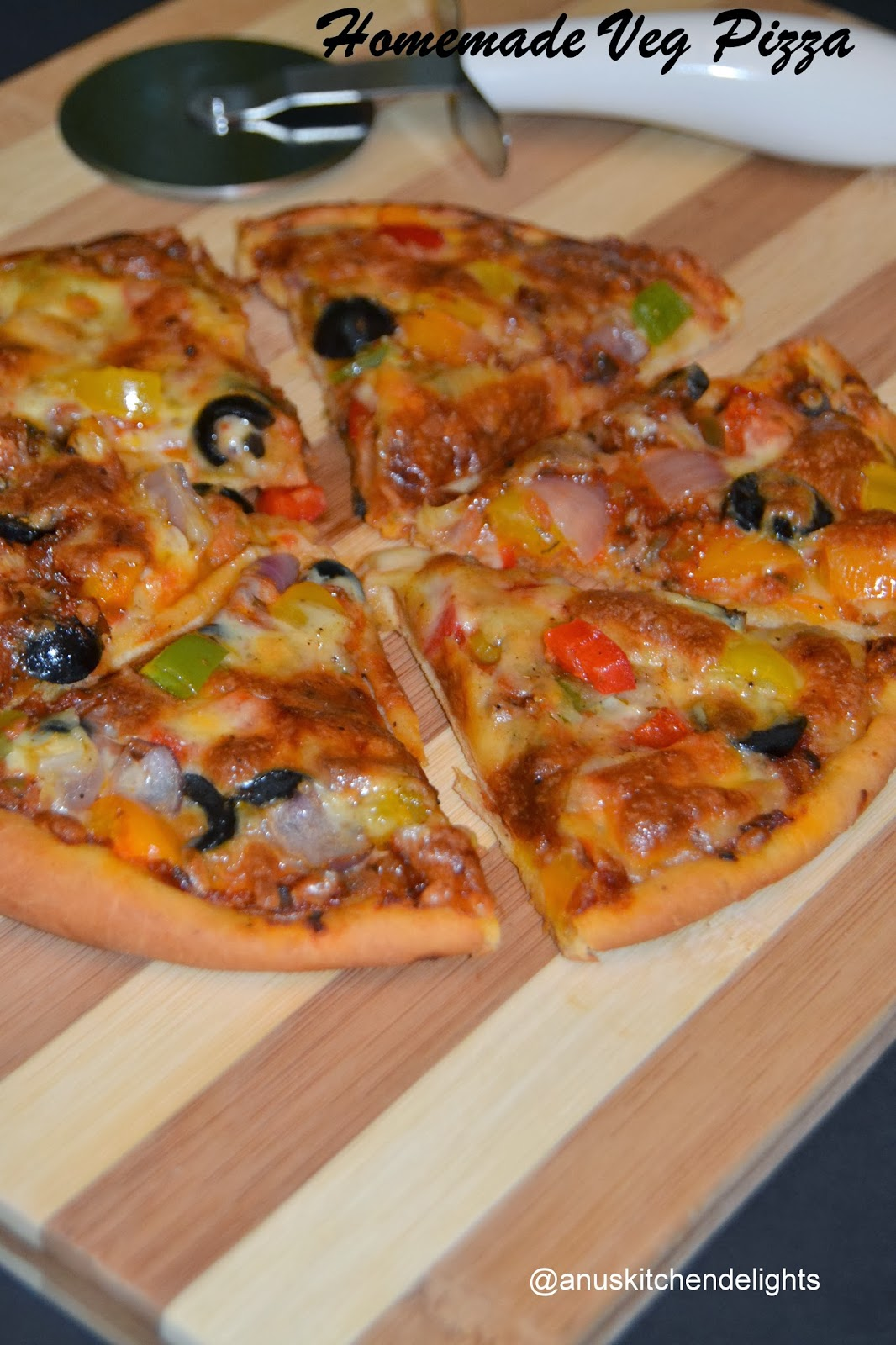 how to prepare veg pizza at home