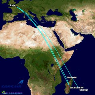 Corsair's Indian Ocean Routes