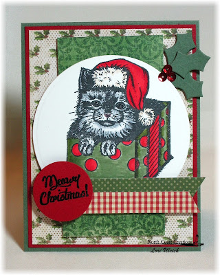Stamps - North Coast Creations Santa Claws, ODBD Custom Circle Ornaments Die