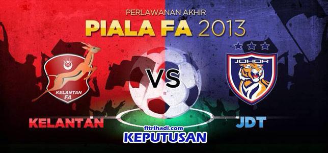 Video Gol Keputusan Johor JDT vs Kelantan Piala FA