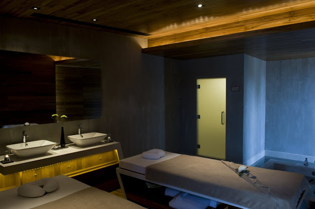 Dark massage room