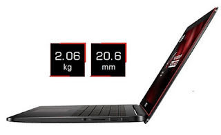 Spesifikasi Notebook Gaming Asus ROG G751JT
