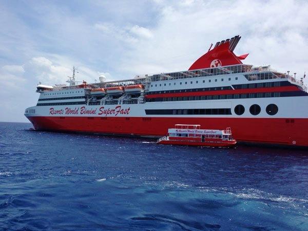 Travel The Caribbean Blog Bimini SuperFast Ferry Passes Coast - Bimini superfast cruise ship