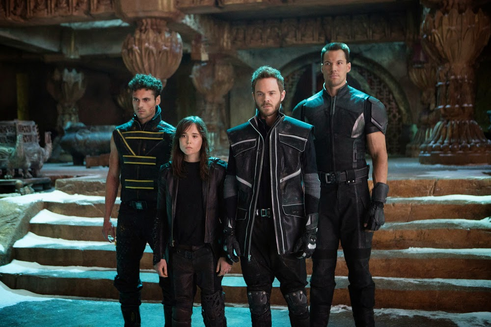 Ellen Page, Shawn Ashmore, Daniel Cudmore, and Adan Canto in X-Men: Days of Future Past