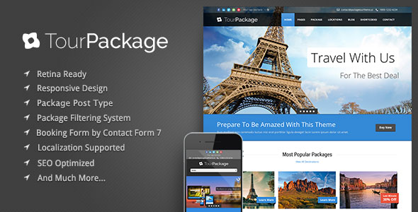 Tour Package v1.02 - Responsive Wordpress Theme