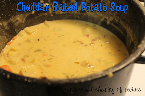 Cheddar Baked Potato Soup - amping up boring potato soup with cheese and beer #soup #recipe