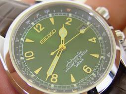 SEIKO ALPINIST SUNBURST GREEN DIAL SARB017 - AUTOMATIC 6R15C - LNIB