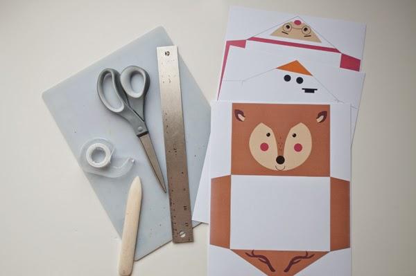 Extrêmement Initiales GG  : {DIY} Des enveloppes festives à imprimer, oh oh oh! XE43