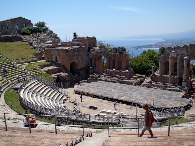 amphitheatre at taormina, sicily