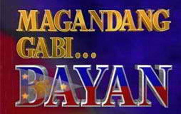 Magandang Gabi... Bayan ABS-CBN's longest running top-rating news magazine program hosted by Noli de Castro Retro Pilipinas