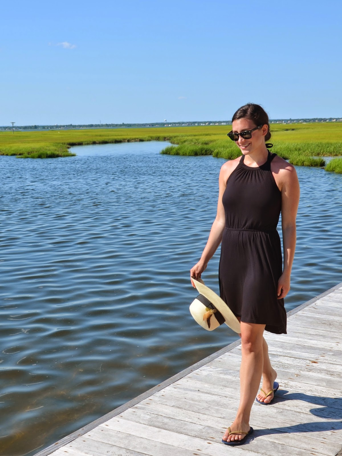 on repeat | little black dress + goorin bros sun hat