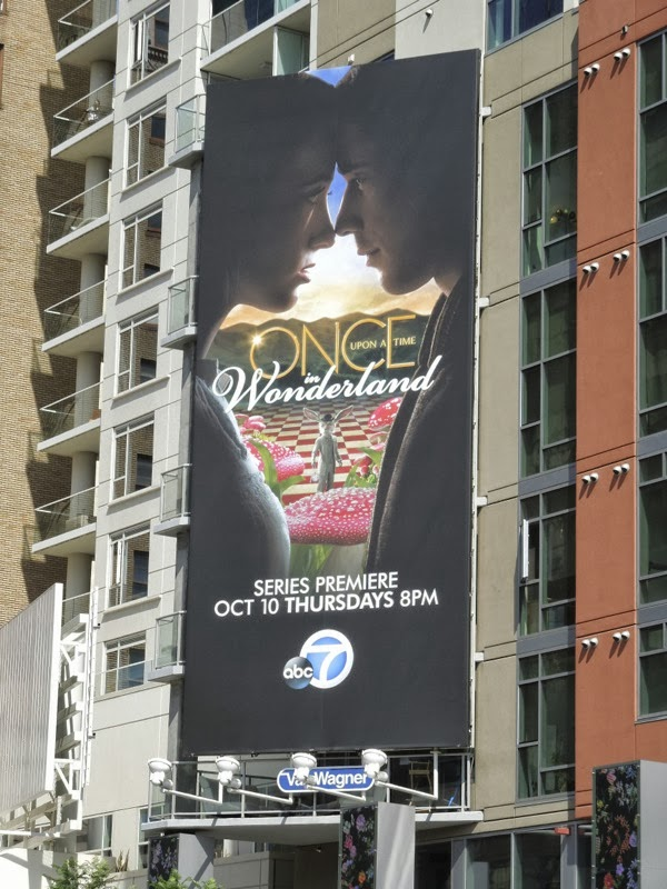 Once Upon a Time in Wonderland series premiere billboard