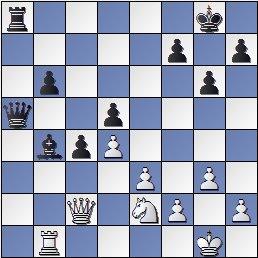 Partida de ajedrez Korchnoi vs. Kasparian (posición después de 32. Ce2??)