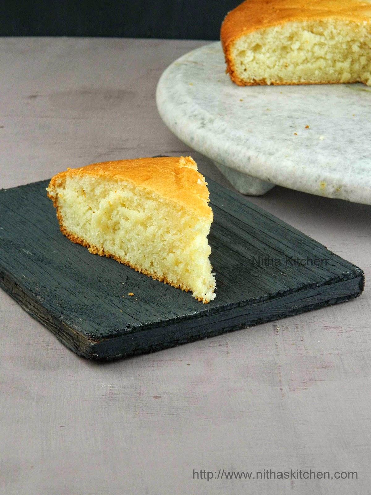 Butterless Vanilla Cake