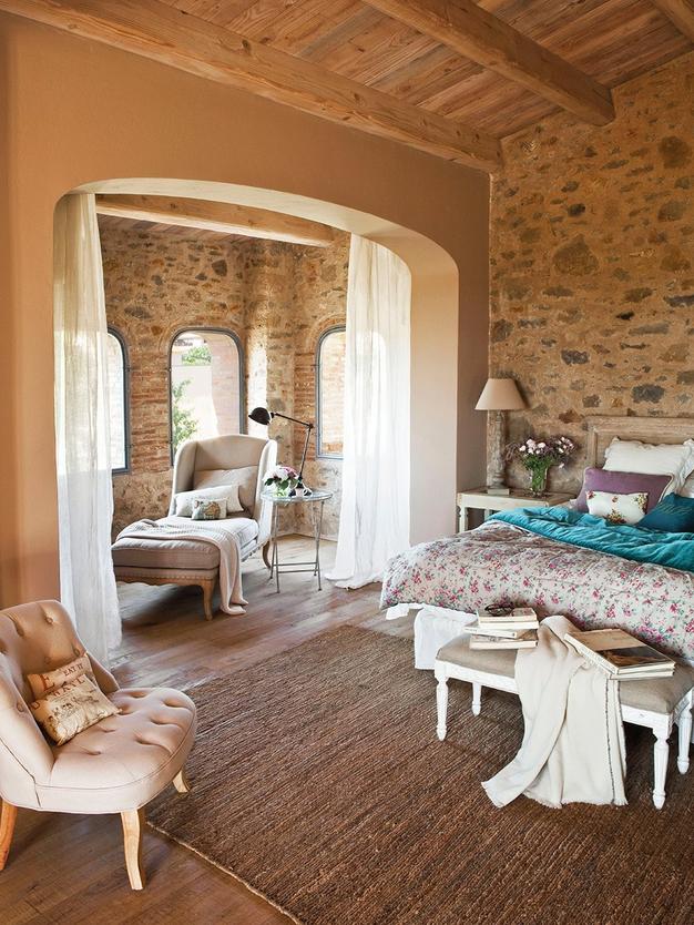 Guida tende tende per la camera da letto - Camera da letto rustica moderna ...