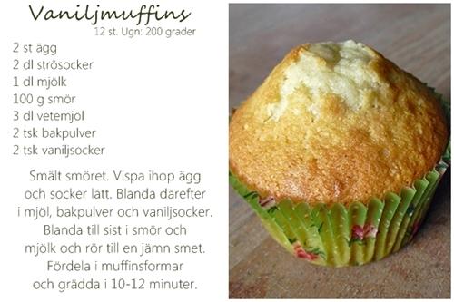 saftiga vaniljmuffins recept