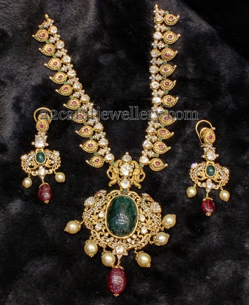 Latest Antique Mango Set with Earrings