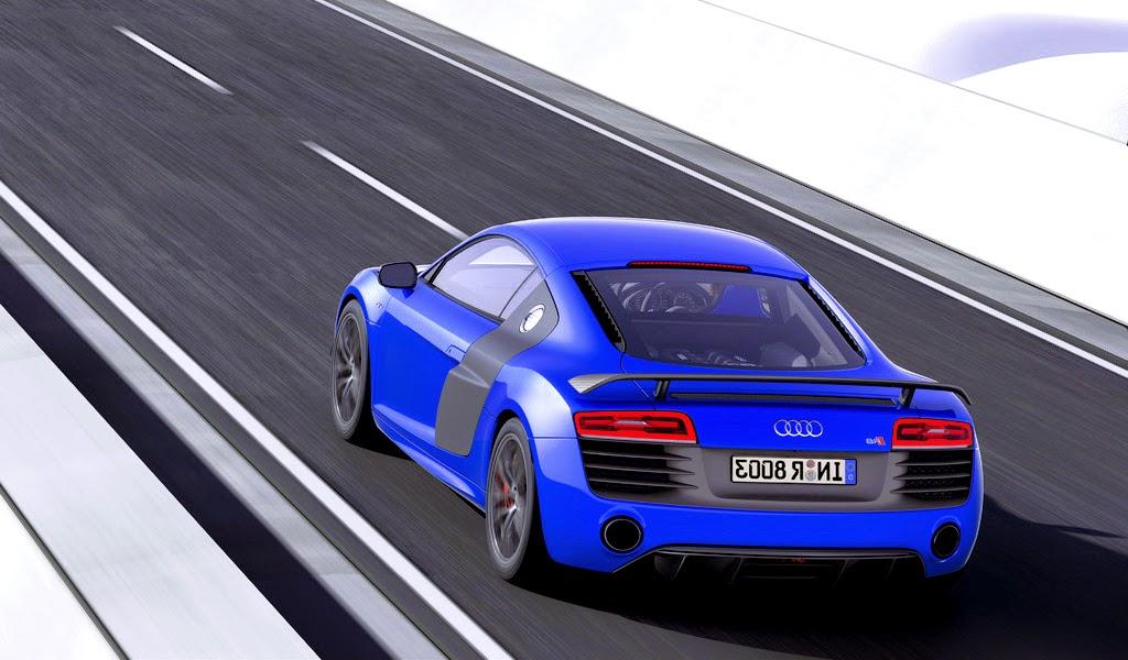 2015 Audi R8 LMX Ara Blue Crystal Effect Rear Wallpaper
