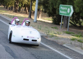 wind powered land vehicle picture, Stefan Simmerer and TV host Dirk Gion wind powered car, wind powered car video, Longest distance covered by a wind powered vehicle, wind powered car photo gallery