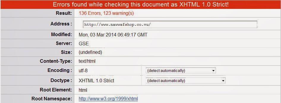 Cara Memperbaiki Validasi HTML Error pada Template Blogger