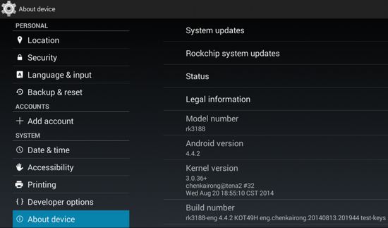 Photo Gallery: Android 4 4 2 stock firmware installed on T-R42 TV Box