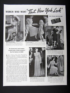 1940s New York Dress Institute advertisement Just Peachy, Darling