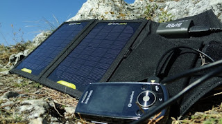 Charging Phone with Portable Solar Panel