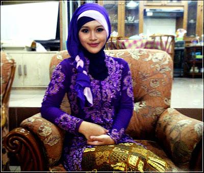 Model jilbab untuk kebaya