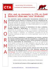 """¿Por qué es necesaria la CTA en Conil Solidario? ¿Para qué """"otro"""" Sindicato?"""