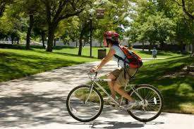 image of riding a bike