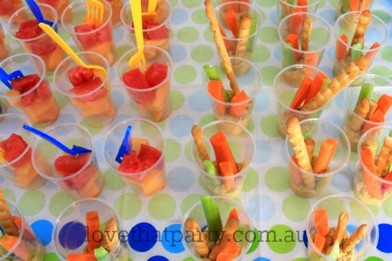 How to get  your kids to eat healthy food at birthday parties... the secret is in the dip! Read more at Love That Party - www.lovethatparty.com.au