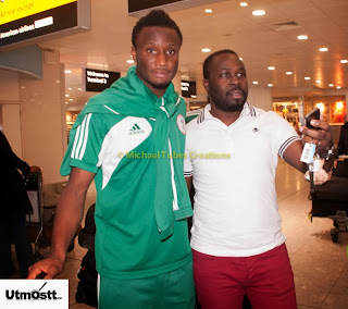 Ahead of Itlay Super Eagles Friendly Players  Mikel and Victor Moses arrive United Kingdom.