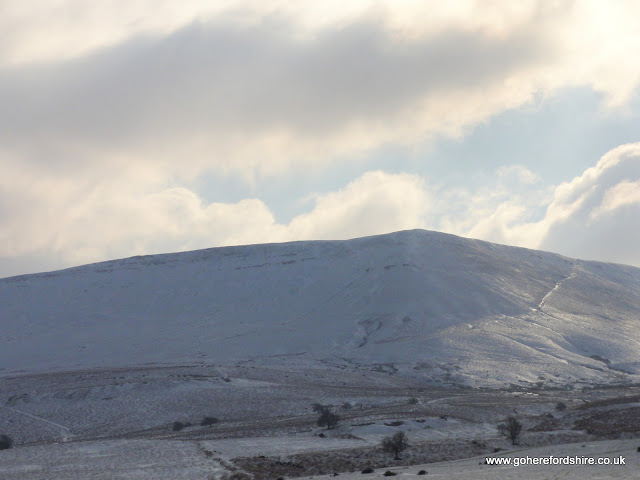 Hay-on-Wye -  Hay Bluff in The Snow