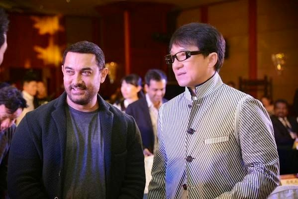 Jackie Chan and Aamir Khan
