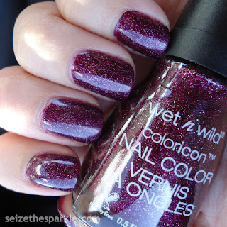Cranberry Holographic Nails