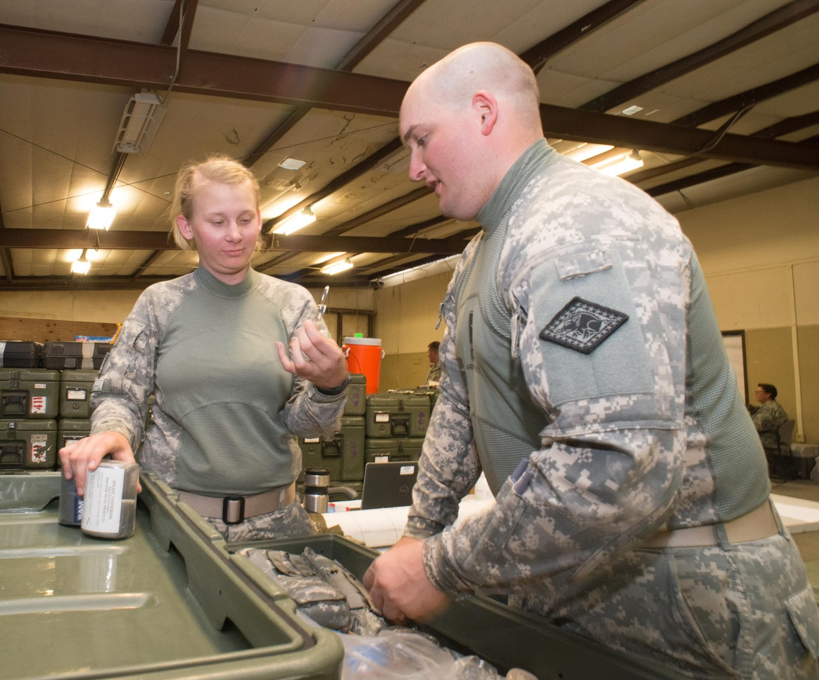 the idaho logisticians have a presence supporting the sections with supplies and coordinating logistics requirements for the brigade as necessary