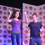 Sarah Jane Dias Gets Her Purple Top Ripped Live On Stage By World Famous Custom Couture Artist Adam Saaks  At McDowell's Signature Premier Indian Derby 2012